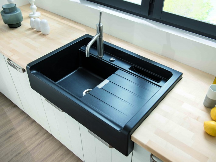 plan de travail gris evier noir lille maison. Black Bedroom Furniture Sets. Home Design Ideas