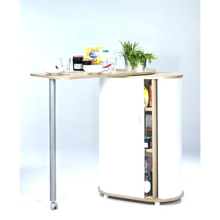 Table de cuisine haute avec rangement - lille-menage.fr maison