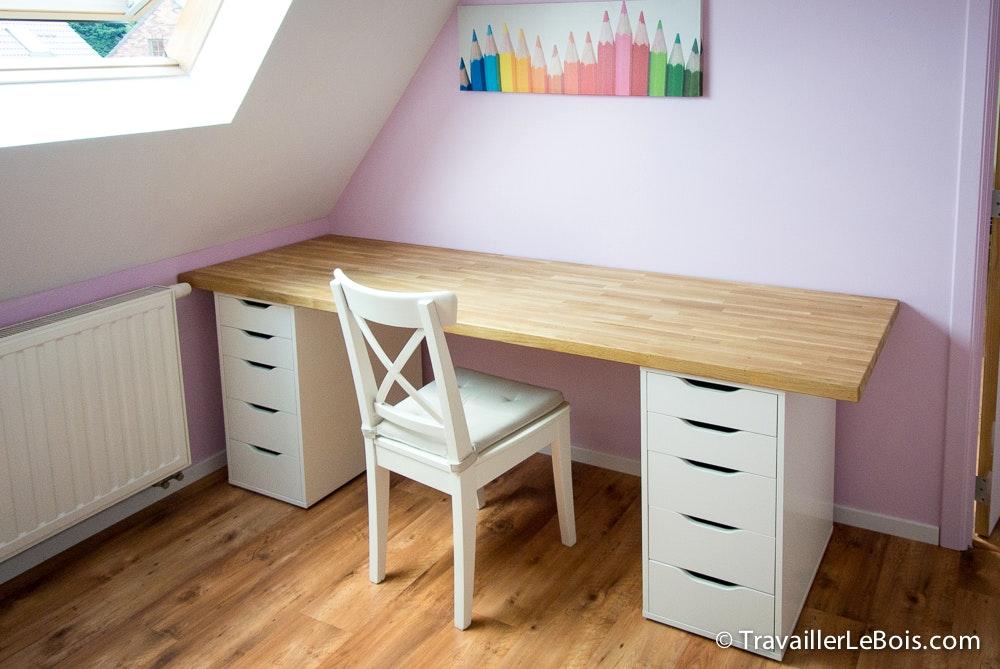 Bureau avec plan de travail de cuisine lille menage maison
