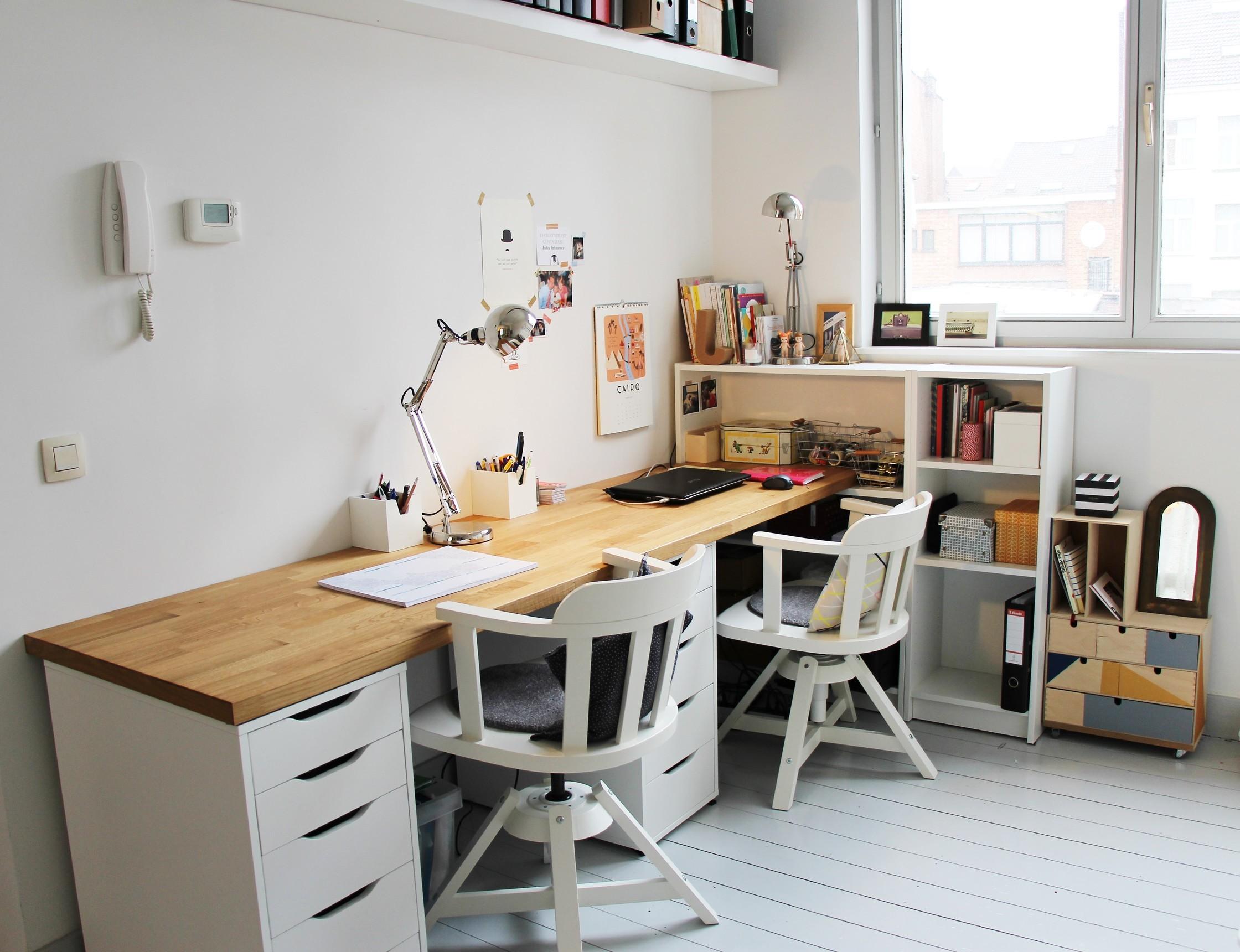 Plan de travail en guise de bureau lille menage maison