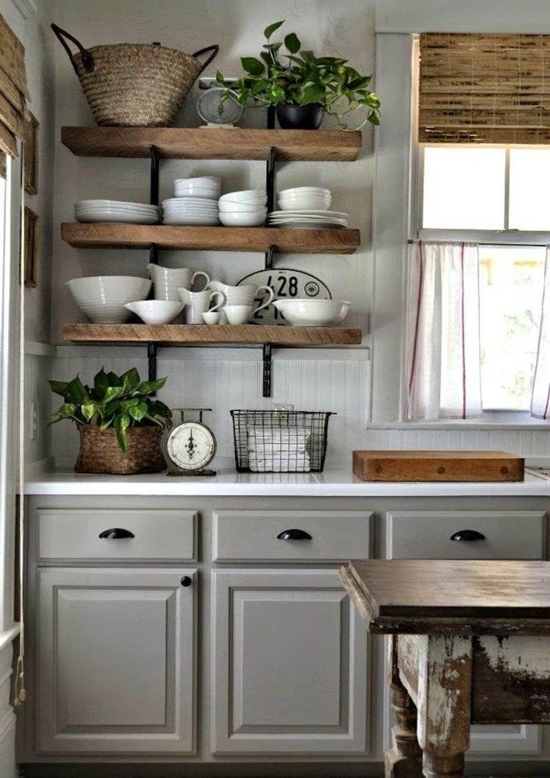 Modele cuisine gris et bois