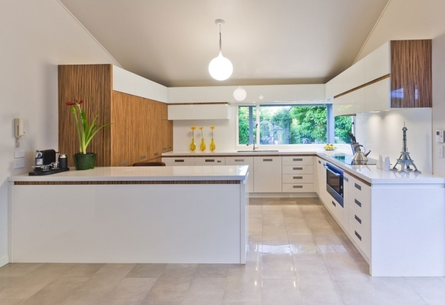 Couleur meuble cuisine avec carrelage beige - lille-menage.fr maison
