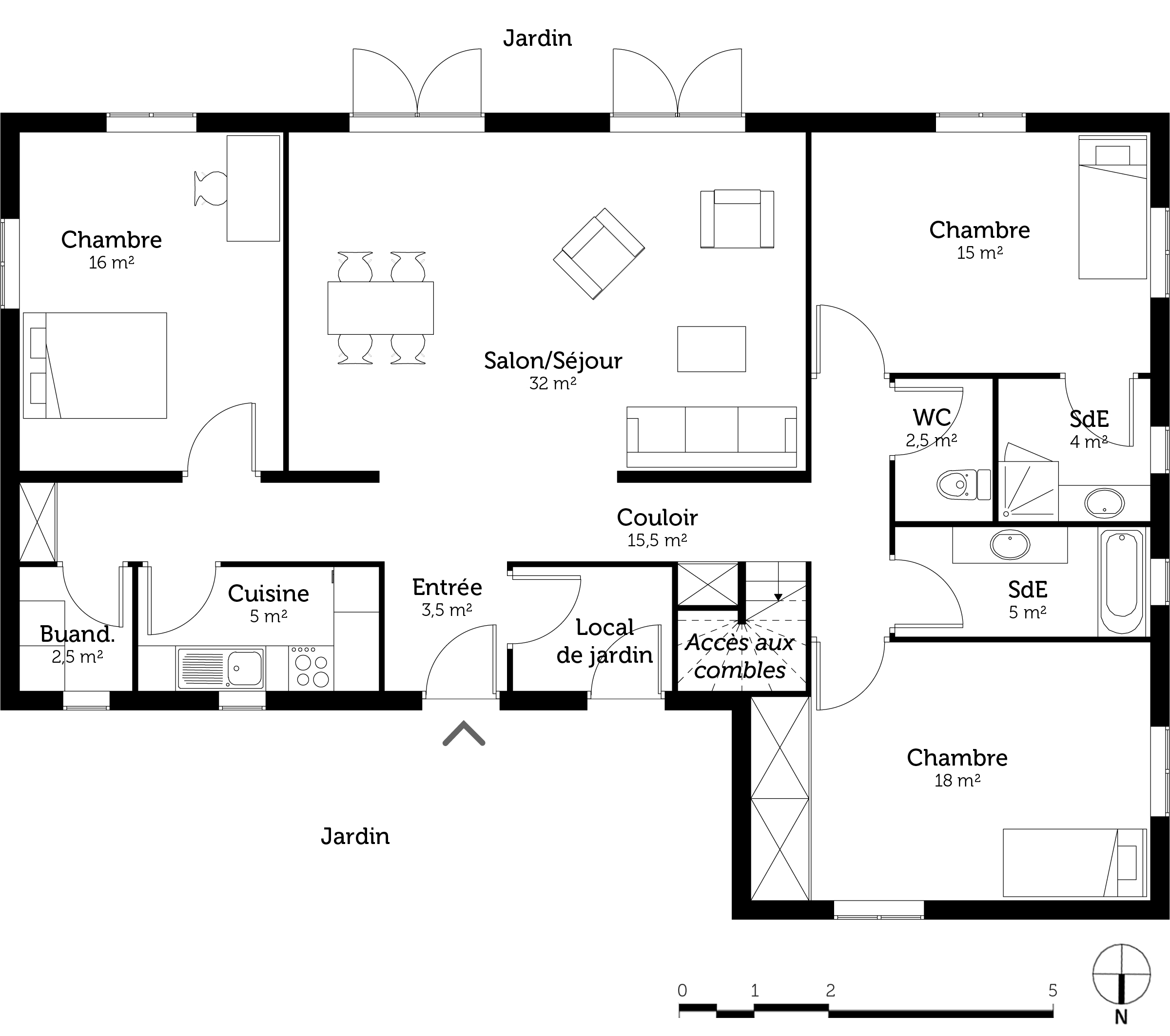 Plan cuisine et salle de bain lille maison - Construire sa salle de bain en 3d gratuit ...