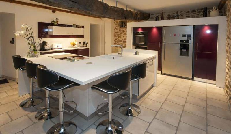 Plan cuisine ouverte ilot central lille maison - Exemple cuisine avec ilot central ...