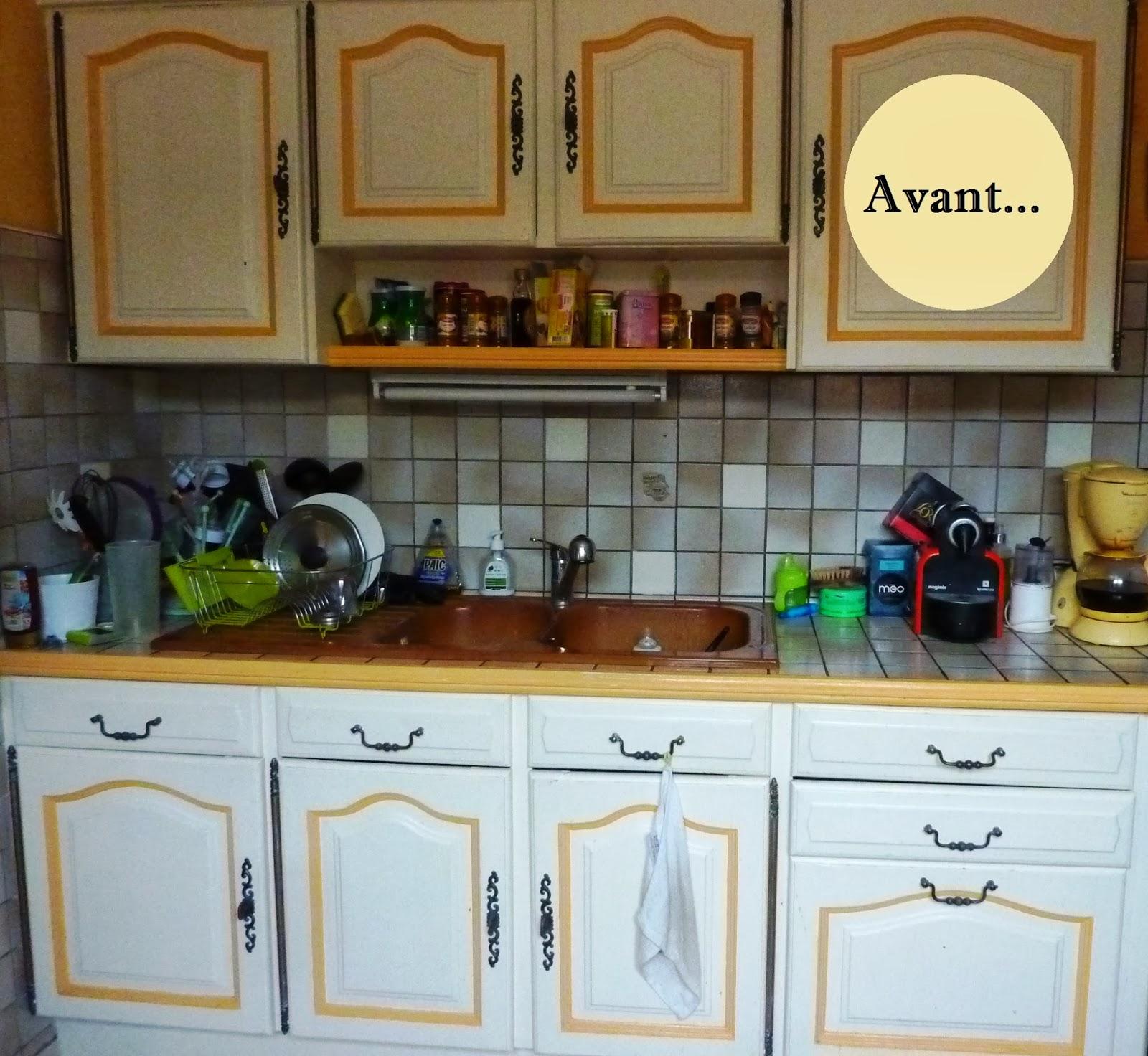 Modele de cuisine ancienne repeinte - lille-menage.fr maison
