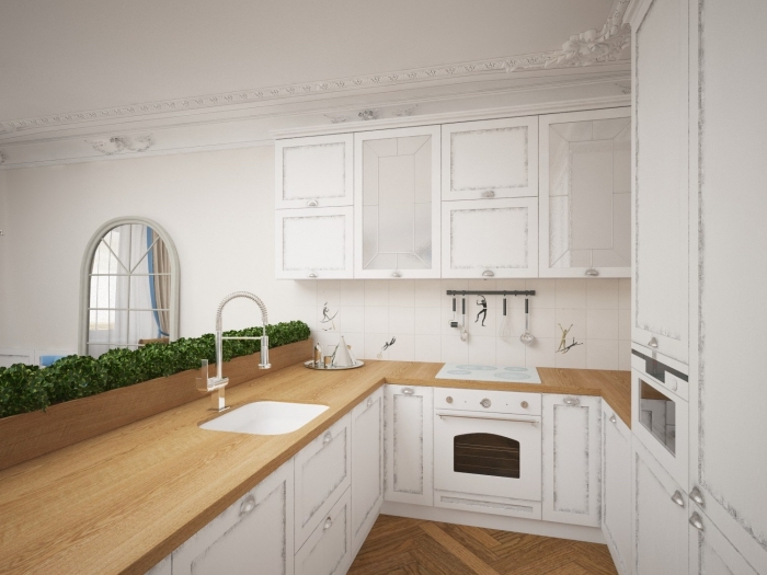 Plan de travail pour une cuisine blanche lille maison for Meuble avec plan de travail