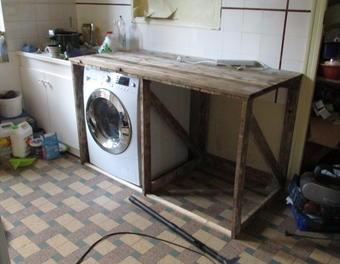 plan de travail bois palette lille maison. Black Bedroom Furniture Sets. Home Design Ideas