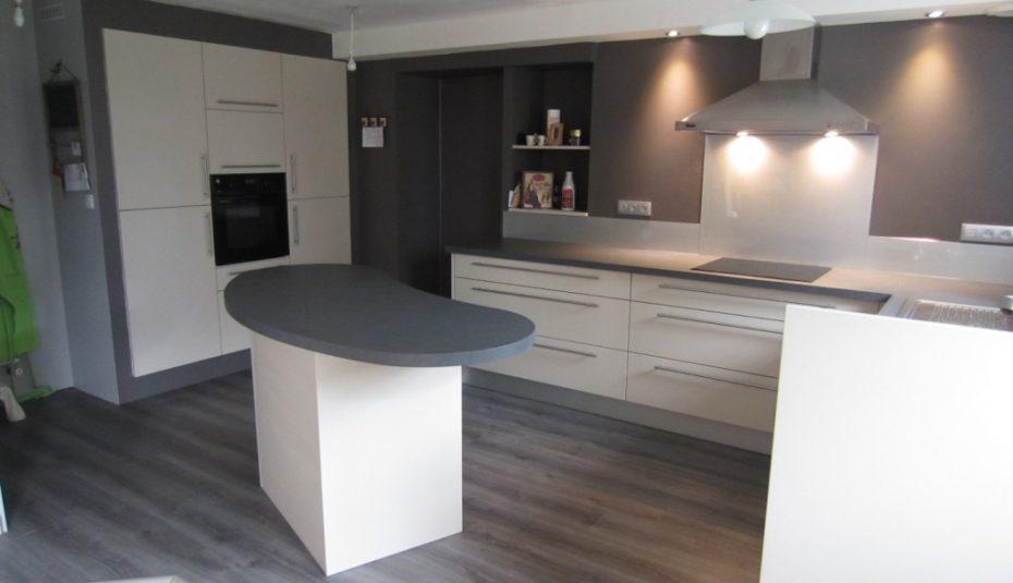 Cuisine Blanche Plan De Travail Granit Gris Lille Menage Fr Maison