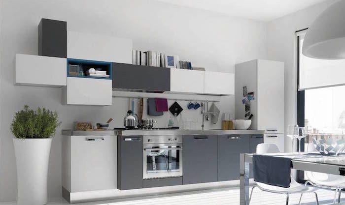 Modele de cuisine gris anthracite