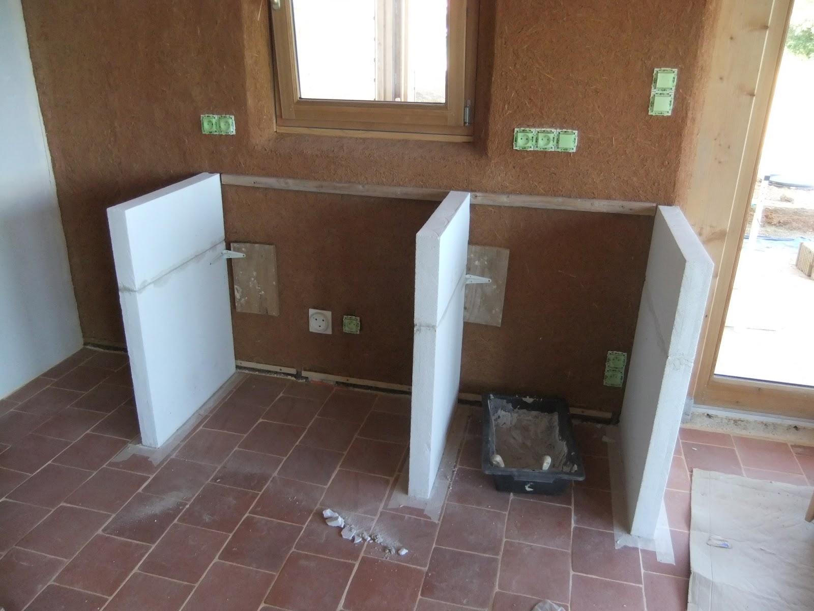 Fixer plan de travail sur beton lille maison - Meuble beton cellulaire ...