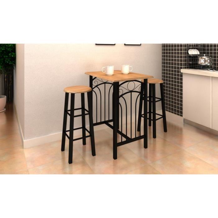 Table haute bois pour cuisine