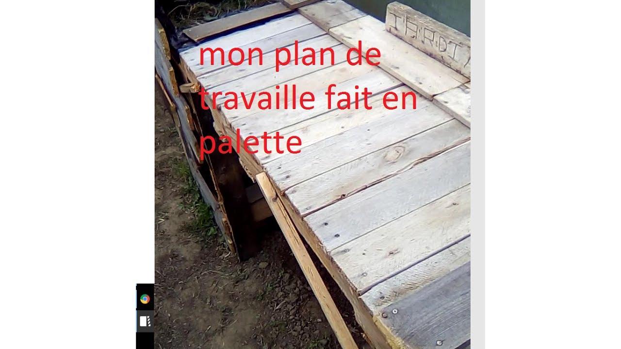 Plan de travail bois de palette