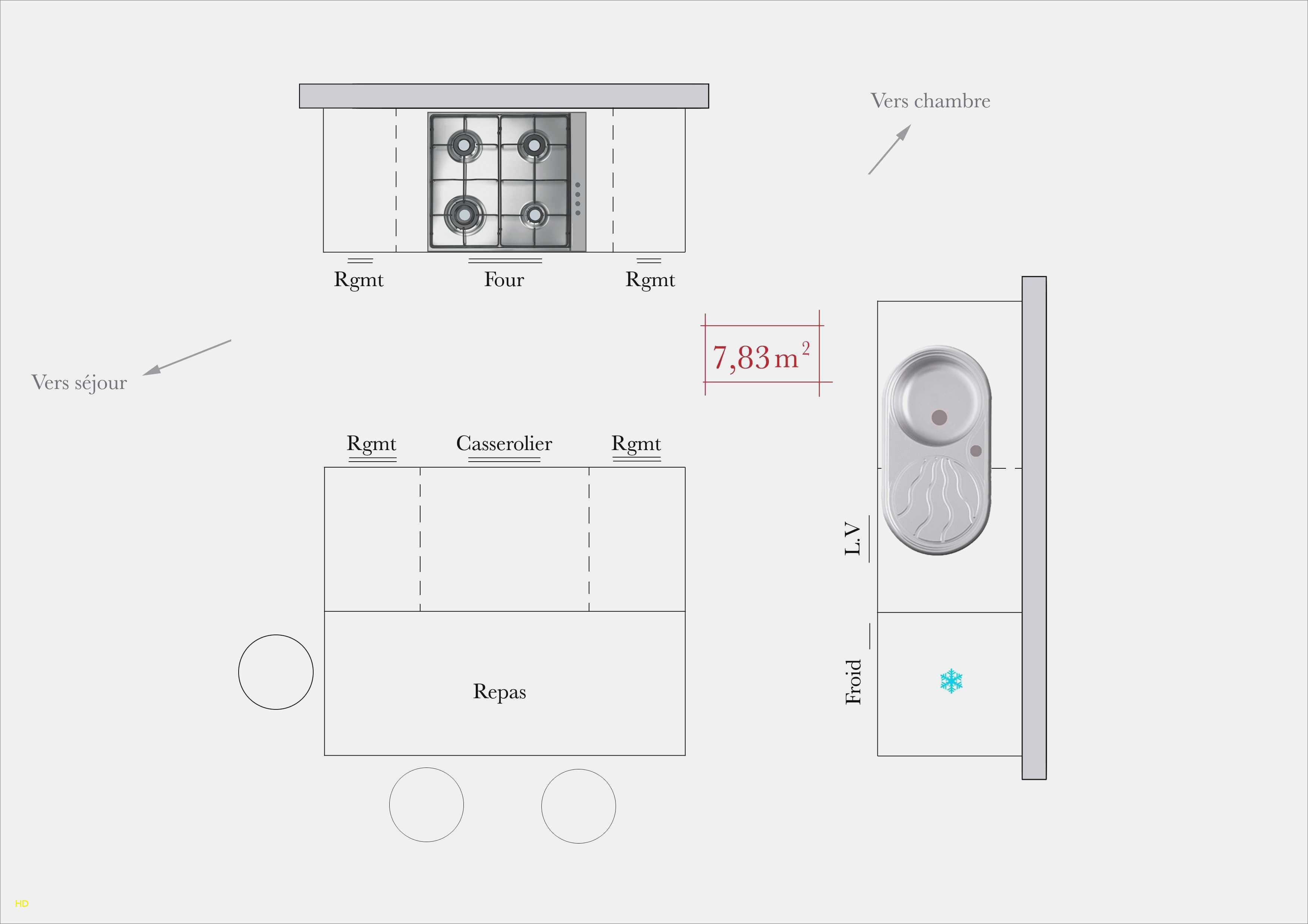 Hauteur meuble haut cuisine rapport plan travail lille - Norme hauteur plan de travail cuisine ...
