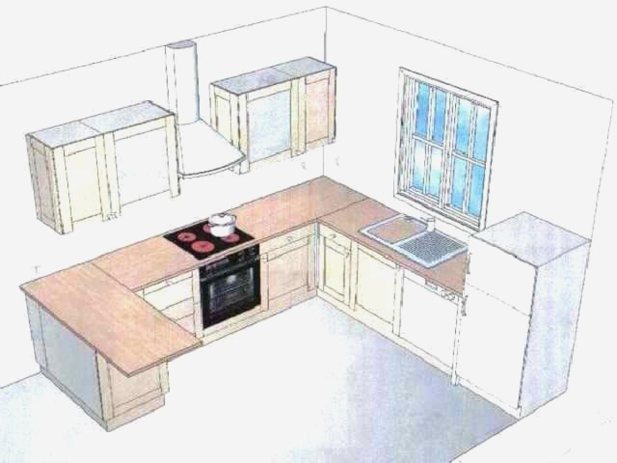 Modele plan cuisine en u lille maison - Plan cuisine en u ...