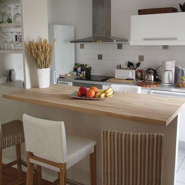 plan de travail chene clair massif lille maison. Black Bedroom Furniture Sets. Home Design Ideas
