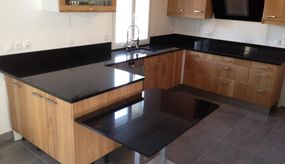 Plan de travail cuisine granit noir prix lille - Plan de travail cuisine en granit prix ...