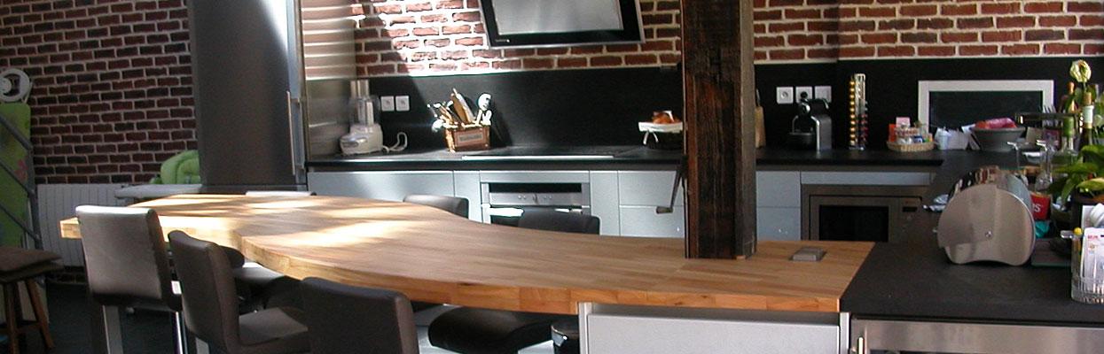 plan de travail bois naturel brut lille maison. Black Bedroom Furniture Sets. Home Design Ideas