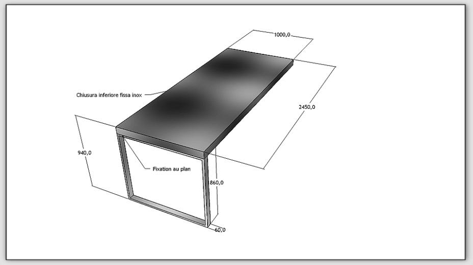 Table bar cuisine delamaison lille maison - Dimensions plan de travail cuisine ...