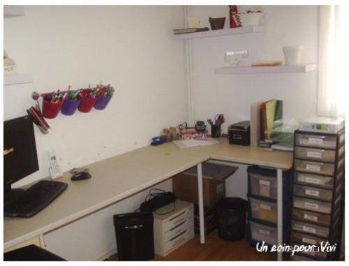Idee bureau avec plan de travail lille maison - Bureau avec plan de travail ...