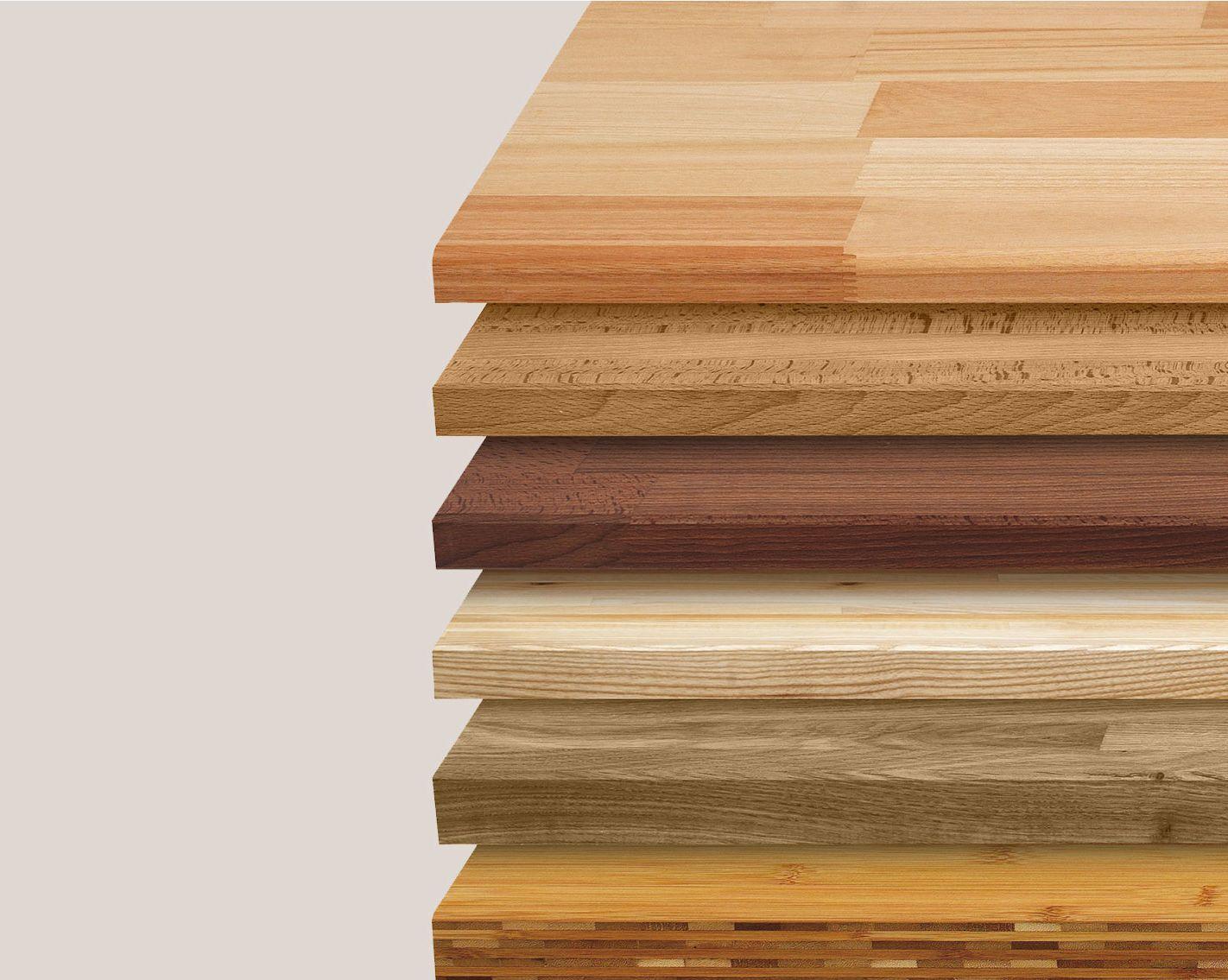 Plan de travail imitation bois blanc